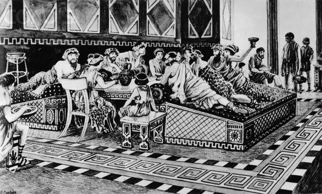 Uczta w starożytnej Grecji